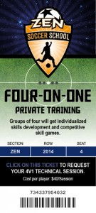 Four-on-one private training